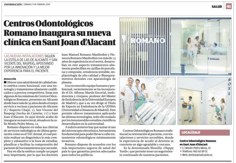 ¿Buscas dentista en San Juan de Alicante? Inauguramos nueva clínica